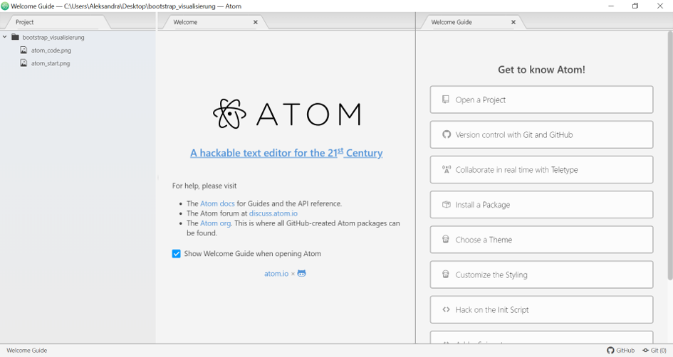 atom bootstrap